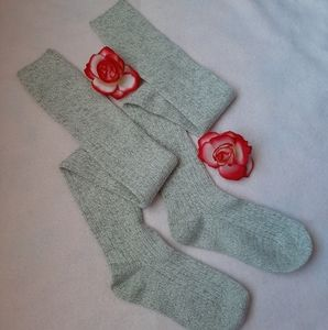 🌹 Oatmeal Over the knee socks